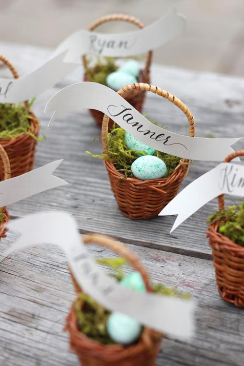 Kreative Namensschilder für Ostern Tischdeko