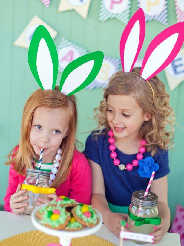 Basteln mit Kindern: Hasenohren basteln