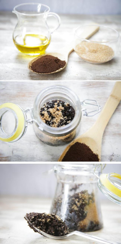 Peeling selber machen - Kaffeepeeling mit Kokos