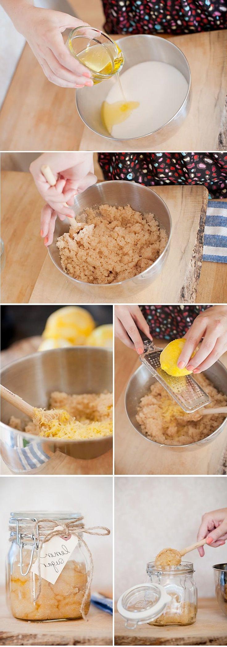 Peeling selber machen - Zitronen-Zucker Peeling Rezept