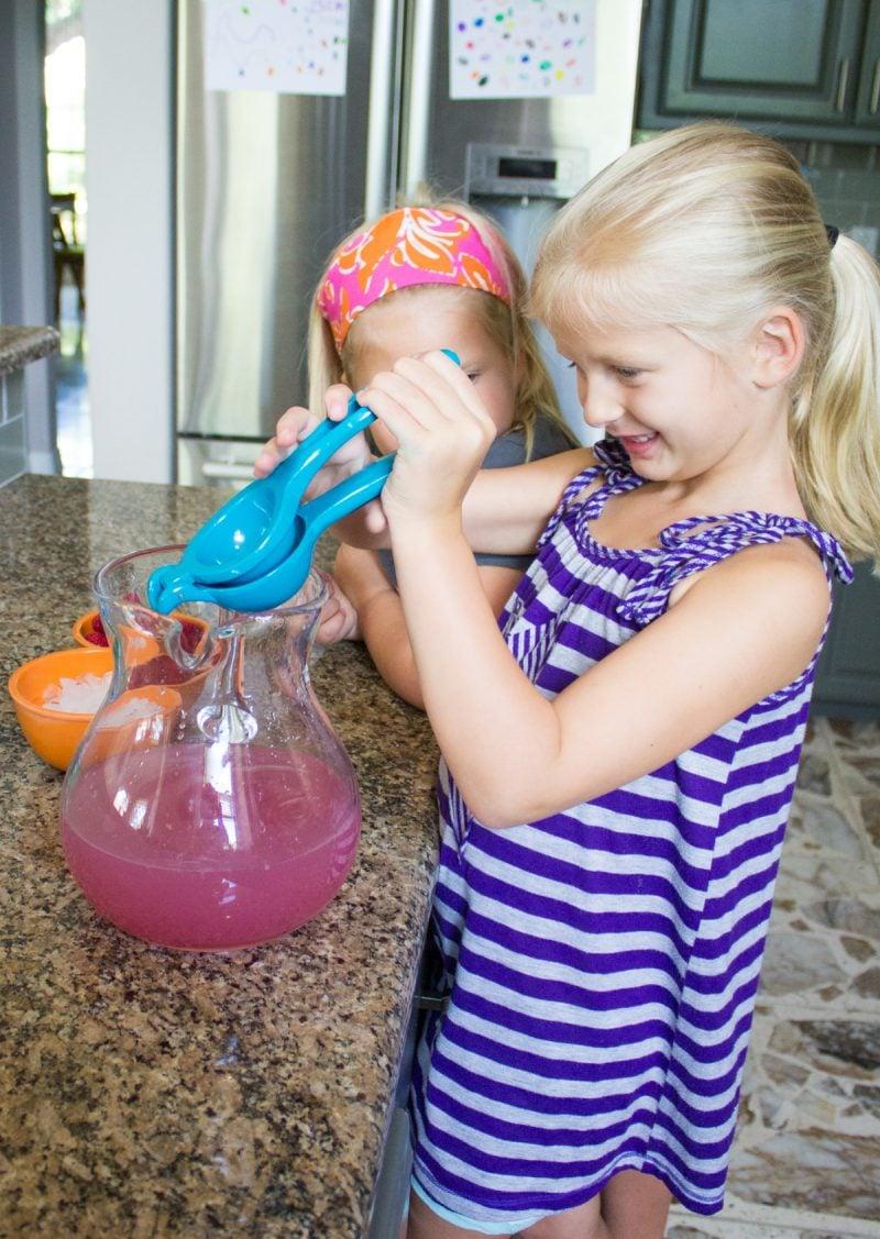 Pink Sprudel-Limonade selber machen