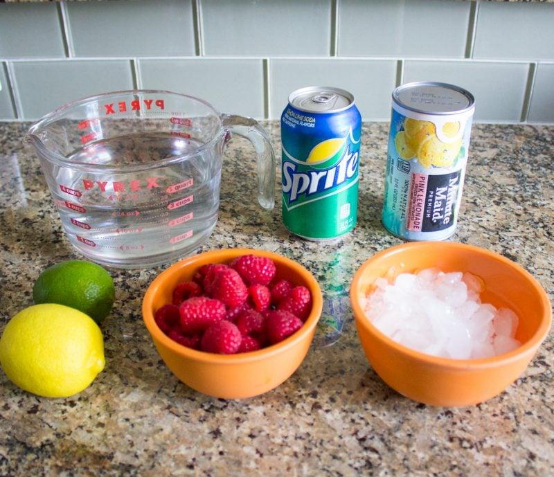 Pink Sprudel-Limonade selber machen - Zutaten
