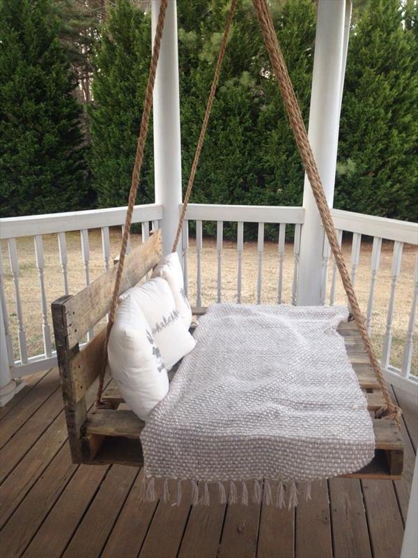 Liege auf Balkon - hängendes Bett selber machen