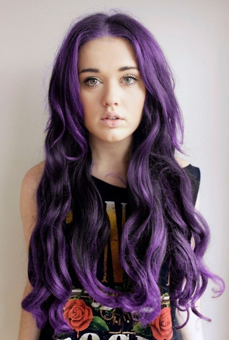 Purple ombre hair tumblr