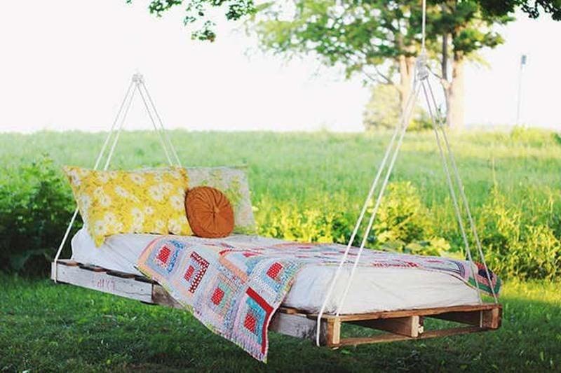 Liege im Garten - hängendes Bett Anleitung