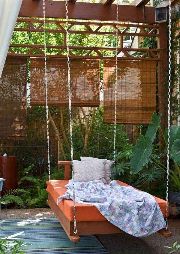 Liege auf Balkon - hängendes Bett Anleitung