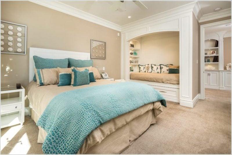 raumgestaltung mit farbe rote akzente setzen, schlafzimmer gestalten - prachtvolle wandgestaltung schaffen, Design ideen