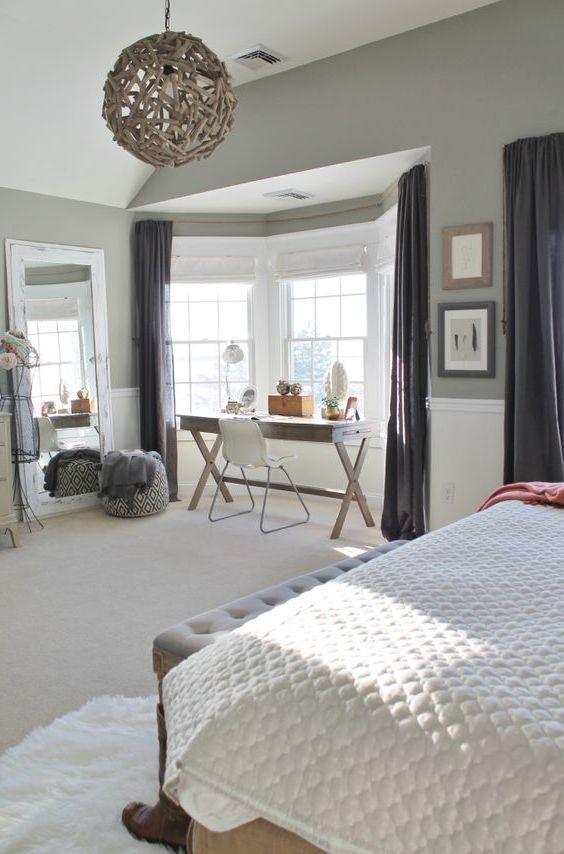 schlafzimmer einrichten ideen grau weiss braun, schlafzimmer gestalten - prachtvolle wandgestaltung schaffen, Design ideen