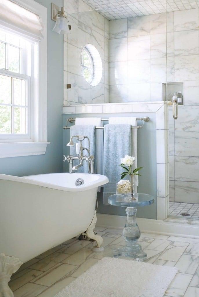 Shabby Chic Badezimmer - Natürliche Elemente zum Wohlfühlen