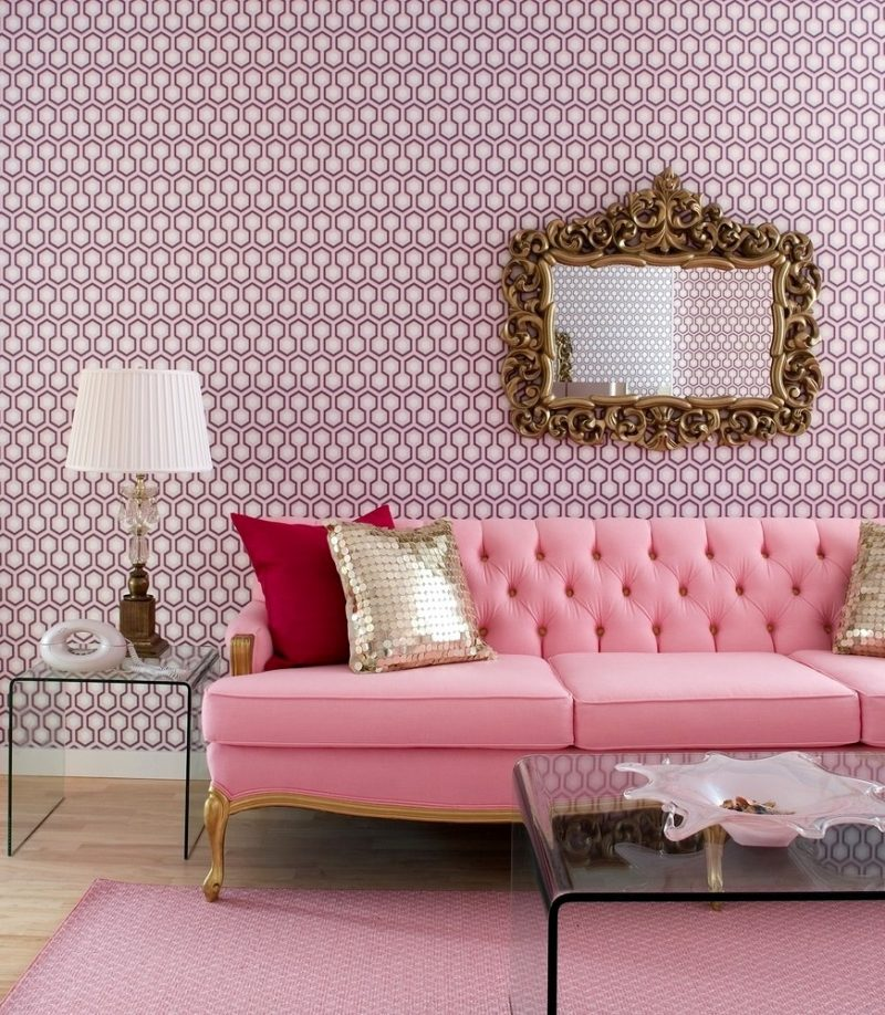 Farbe mauve einrichtung ideen trendfarbe  Pink Farbe als Trendfarbe in der Einrichtung - 50 stylische ...