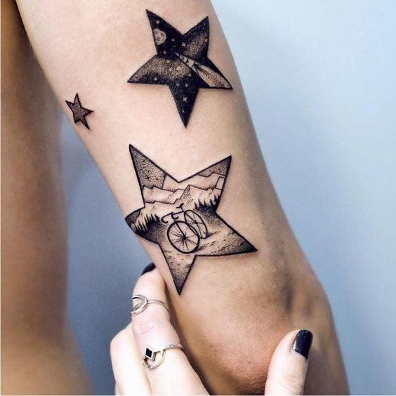 Stern Tattoos Bedeutung Und 40 Coole Design Ideen Tattoos Zenideen