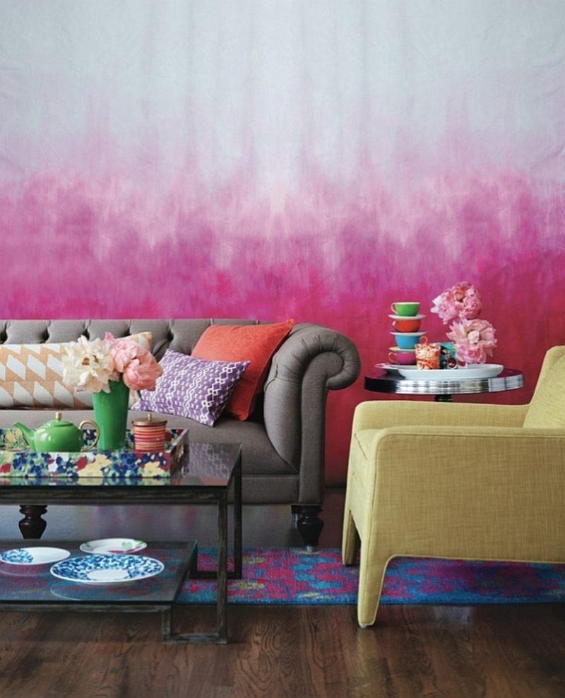 Wohnzimmergestaltung mit farben und bildern 70 frische - Vorschlage wandgestaltung ...