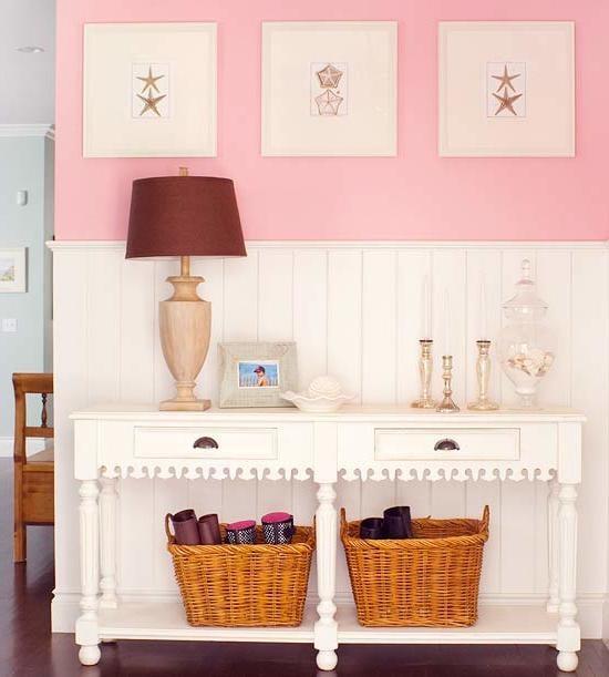 rosa farbe wand die neuesten innenarchitekturideen. Black Bedroom Furniture Sets. Home Design Ideas