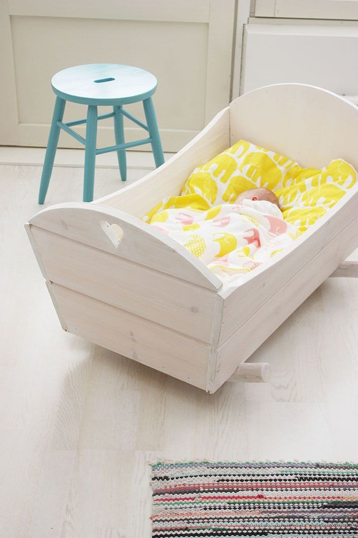 Babyzimmer gestalten - Babywiege Anleitung und 40 tolle Ideen - DIY, Kinderzimmer - ZENIDEEN