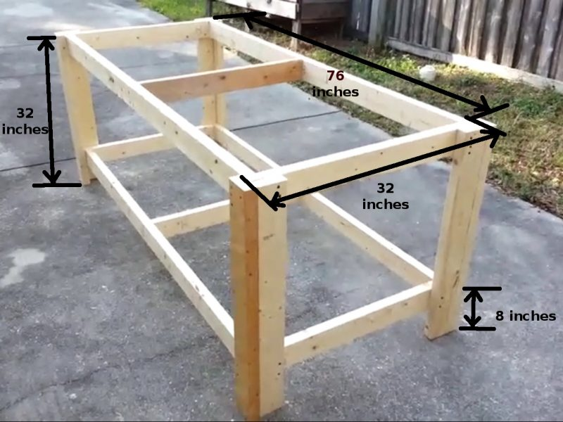 Picnic Table also Watch moreover How To Build A Reclaimed Wood Office Desk additionally No Frills Workbench moreover 9155af4988a11a11. on 2x6 bench plans