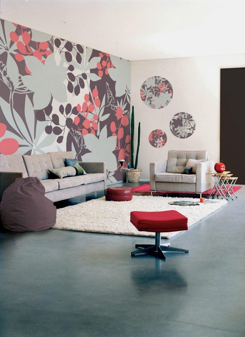 wohnzimmergestaltung mit farben und bildern 70 frische. Black Bedroom Furniture Sets. Home Design Ideas