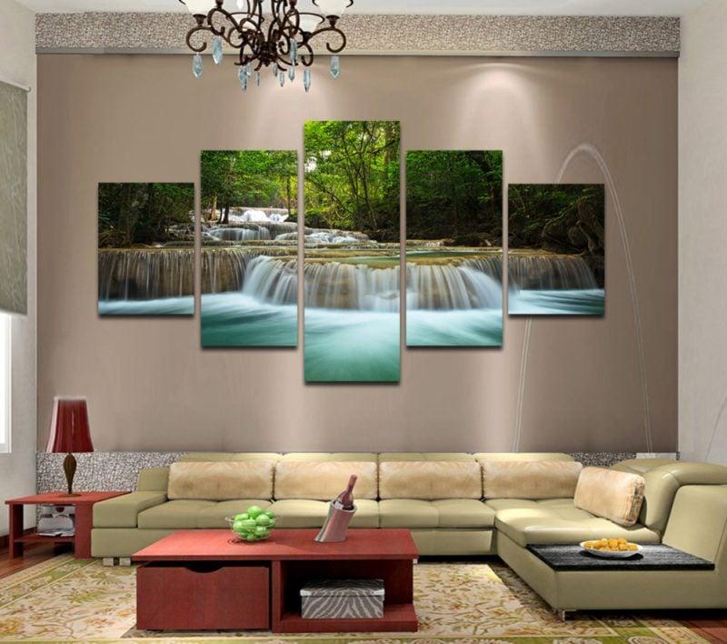 Wohnzimmergestaltung mit farben und bildern 70 frische - Bilderwand wohnzimmer ...