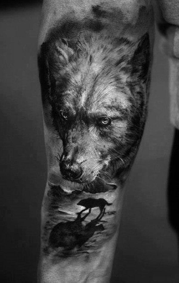 tattoo wolf 60 inspirierende ideen f r m nner und frauen tattoos zenideen. Black Bedroom Furniture Sets. Home Design Ideas