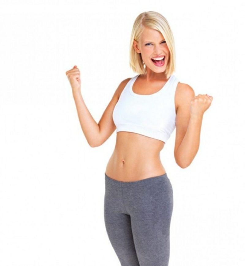 Bauchübungen schlank aussehen Frau