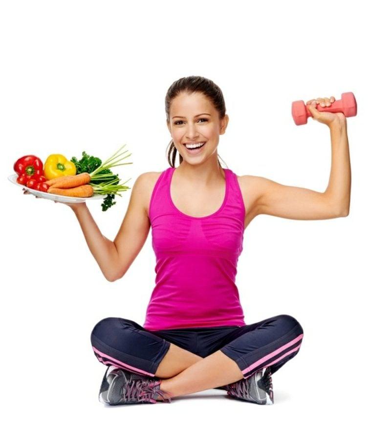 mit Sport und gesunder Ernährung in Form kommen