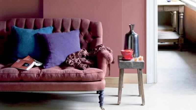 Wand Couch Farbe Altrosa herrlicher Look