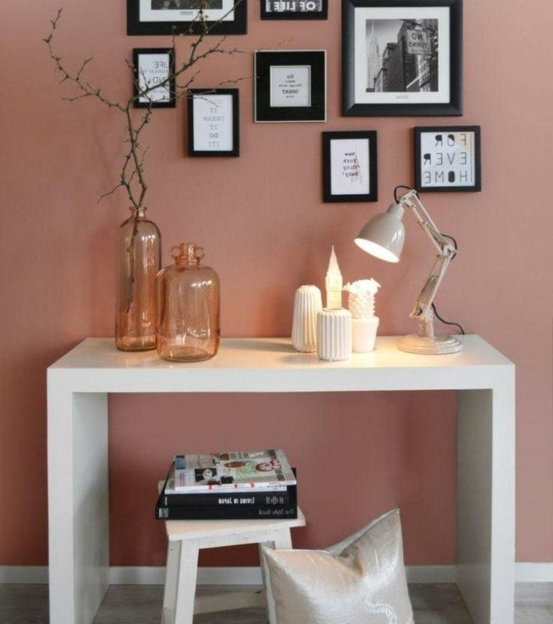 Wandfarbe Altrosa schöner wohnen