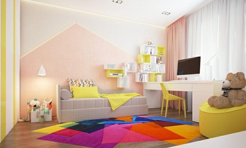 Wandfarbe Altrosa schöner Wohnen Kinderzimmer