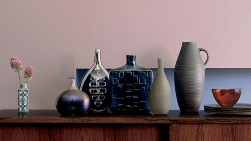 Farbe Altrosa Wand Deko Vasen Keramik