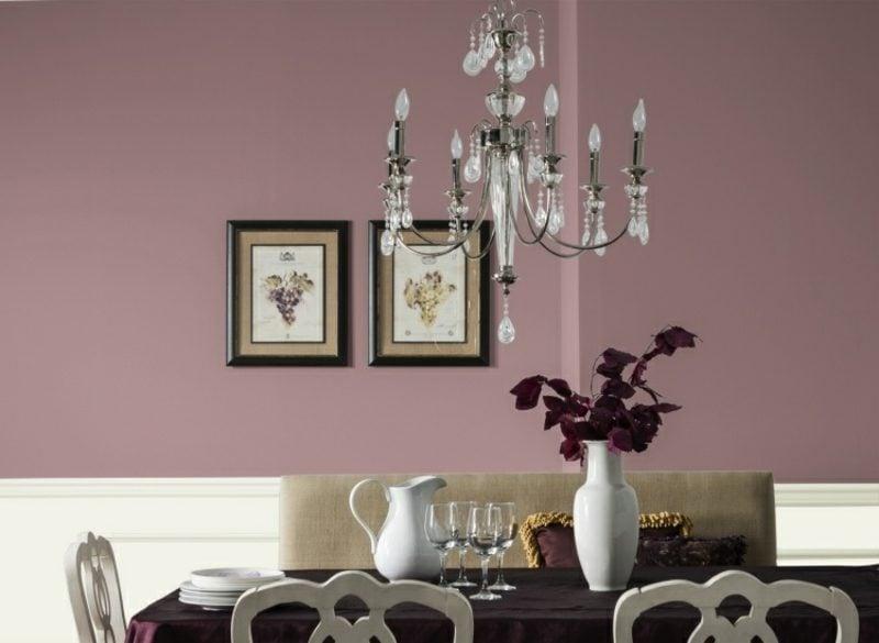 Wandfarbe Altrosa schöner Wohnen Interieur im Vintage Stil