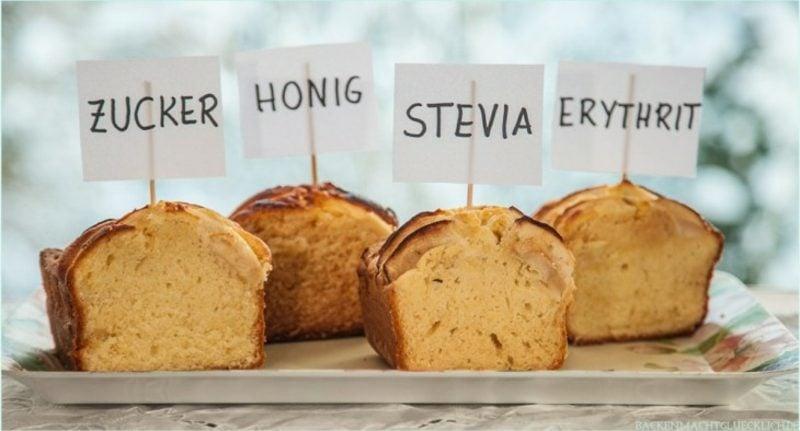 Zuckerersatz gesung Stevia Honig Erythrit