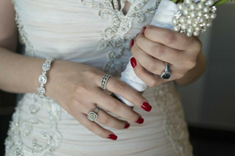 Brautnägel in Rot herrlicher Look