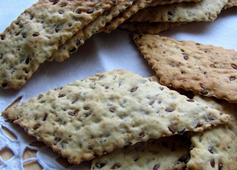 Leinsamen gesund Rezepte leckere Crackers backen