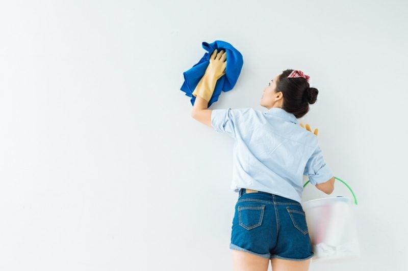 Fettflecken entfernen Tapeten Wand
