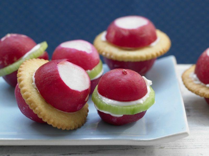 Radieschen Kalorien Party-Fingerfood mit Radieschen