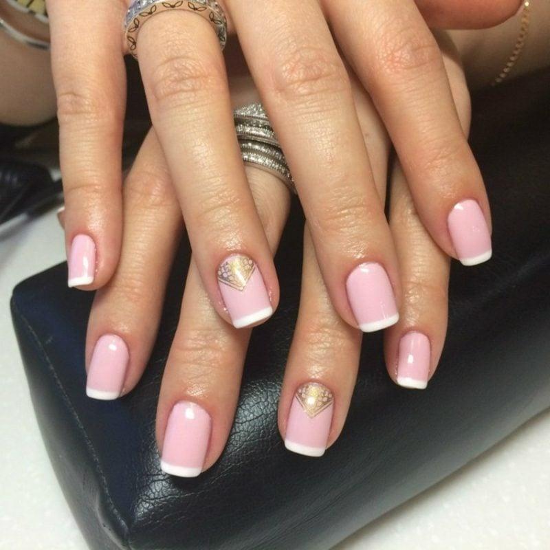 Nageldesign selber machen French Nails eleganter Look