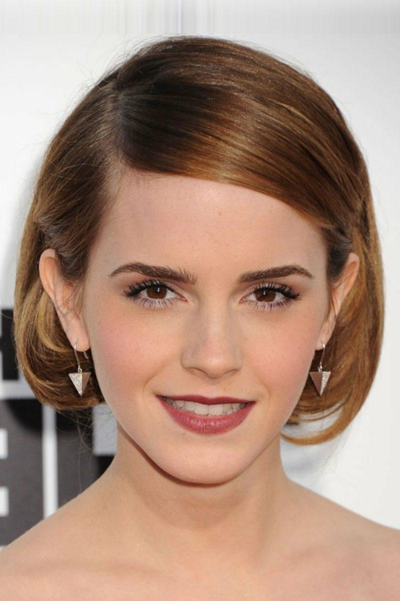 Hellbraun Haarfarbe Bob Frisur Emma Watson