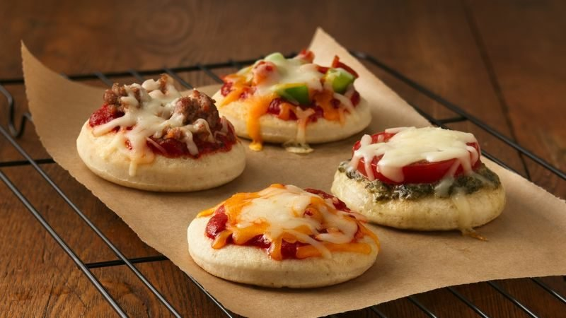 Kindergeburtstag Rezepte leckere mini-Pizzas