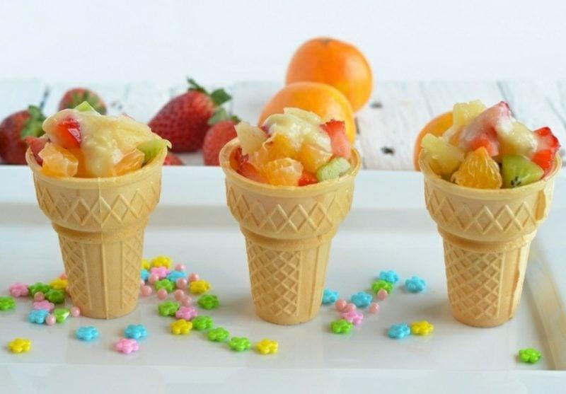 Essen für Kindergeburtstag frisches Obst Fingerfood