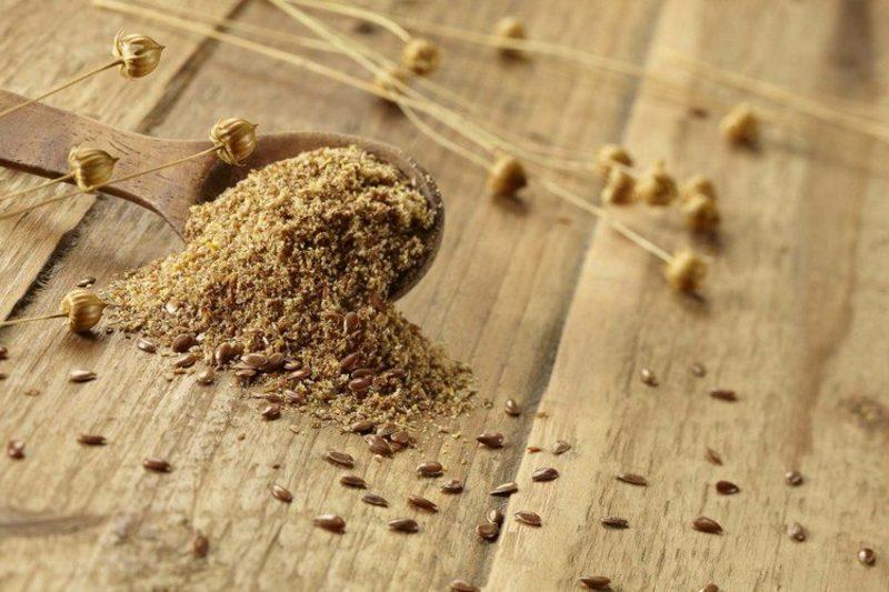 Leinsamen geschrottet abführende Lebensmittel