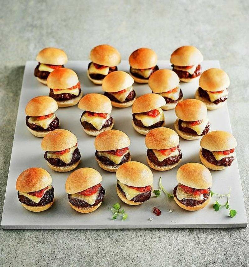 Geburtstagsfeier Essen Kinderparty mini-Burger