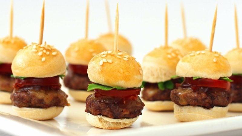 Fingerfood für Kindergeburtstag mini-Burger