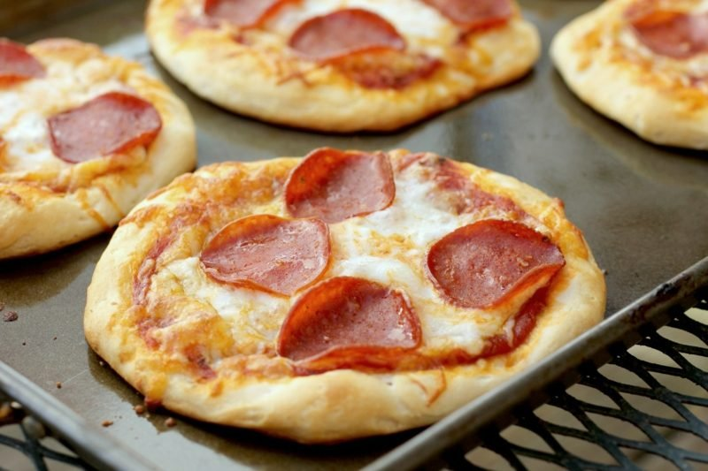 Kindergeburtstag Snacks mini-Pizzas