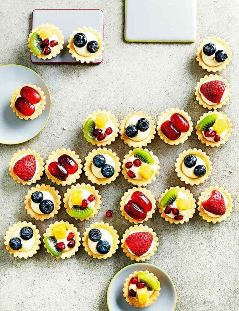 Kindergeburtstagsfeier Party Snacks Häppchen mit Obst