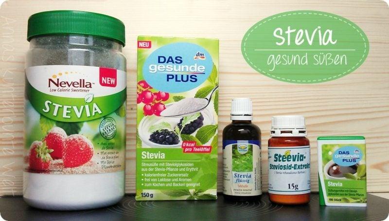 Stevia gesund Alternative zu Zucker Stevia Produkte dm