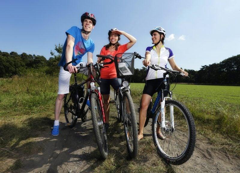 Fahrrad fahren mit Freunden Kalorien verbrennen