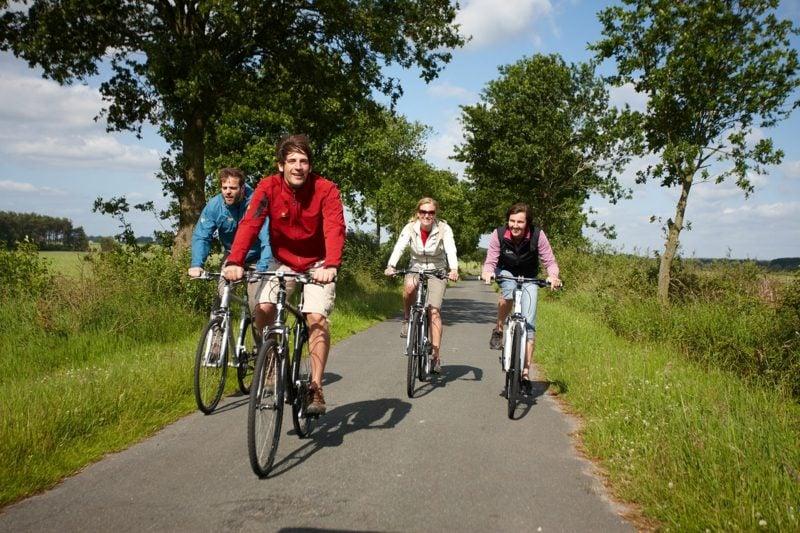 Kaloreinverbrauch beim radfahren Fahrrad fahren mit der Familie