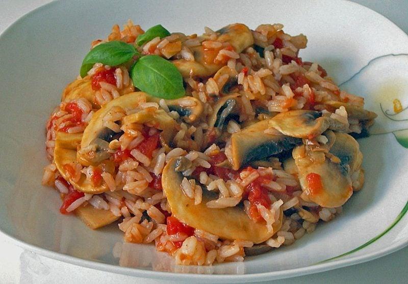 Rezepte mit Reis Reisgericht mexikanisch Tomaten Pilzen