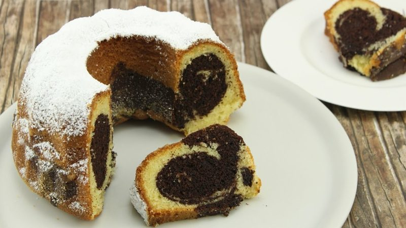 Rezeptbuch selber machen glutenfreier Marmorkuchen backen