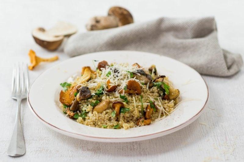 schnelle Reisgerichte Risotto mit Pilzen