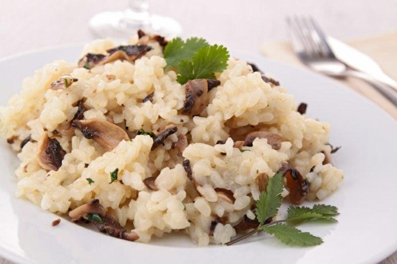 Rezepte mit Reis italienisch Risotto mit Pilzen
